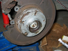 Clean the hub face and center with a wire brush and apply a LIGHT coating of antiseize to make rotor removal easier the next time you touch the brakes.
